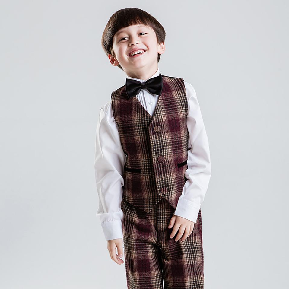 Korea Style Children Clothes Set For Wedding Black boys coat Suit фото