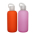 Eco-friendly 420&600ml Glass Water Drinking Bottle with Portable Silicone Sleeve for Outdoor