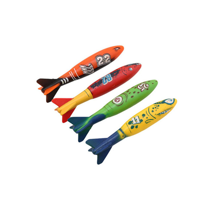 Summer interactive sensory toy 4 pieces / bag plastic bandit children underwater diving stick toy