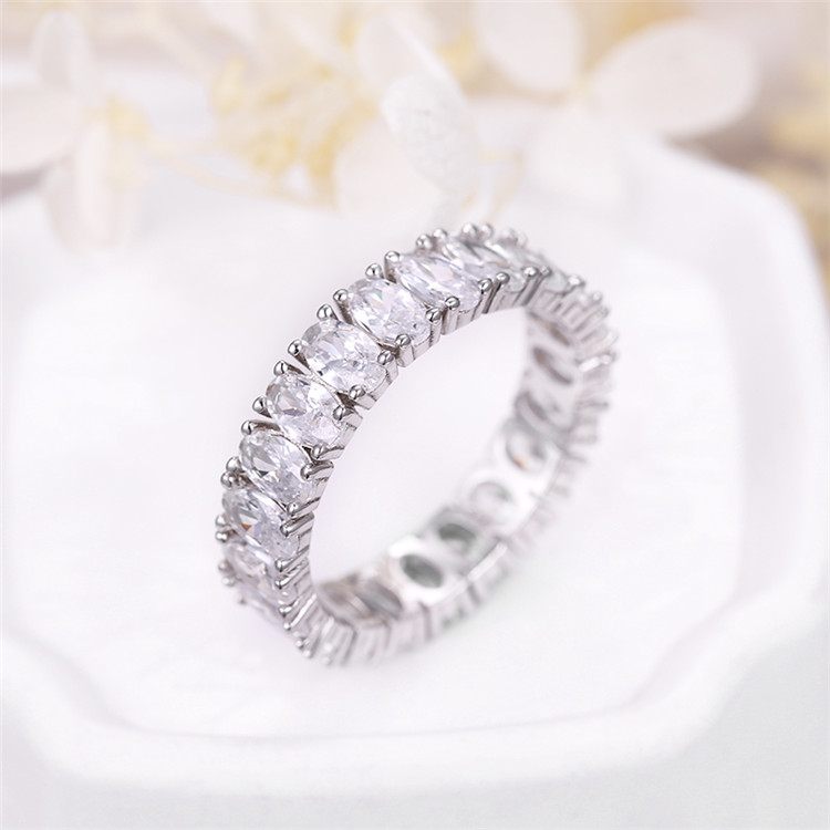 Sevena เครื่องประดับ SAR7390 แฟชั่น Eternity ผู้หญิงงานแต่งงาน GOLD 18 K เงินเพชร Designs CZ แหวน