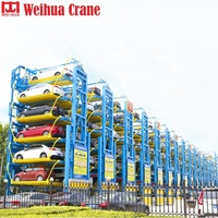 Motor Drive Vertical Electric 2 Post Retractable Garage For Low Ceiling Garages Cantilever Car Parking Lift