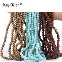 China Fashion Custom Colors Wholesale Faceted Crystal Frosted Glass Beads