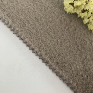 Very Soft Plain Style Fake Rabbit Fur Fabric for Garments