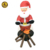 4.5ft Christmas Decoration Inflatable santa with bonfire, Christmas Holiday Party Inflatable Santa Decoration