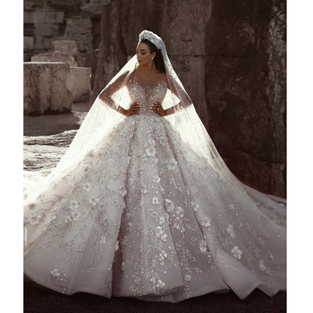 Luxury Heavy Beading Expensive Wedding Gowns With Long Train Buy