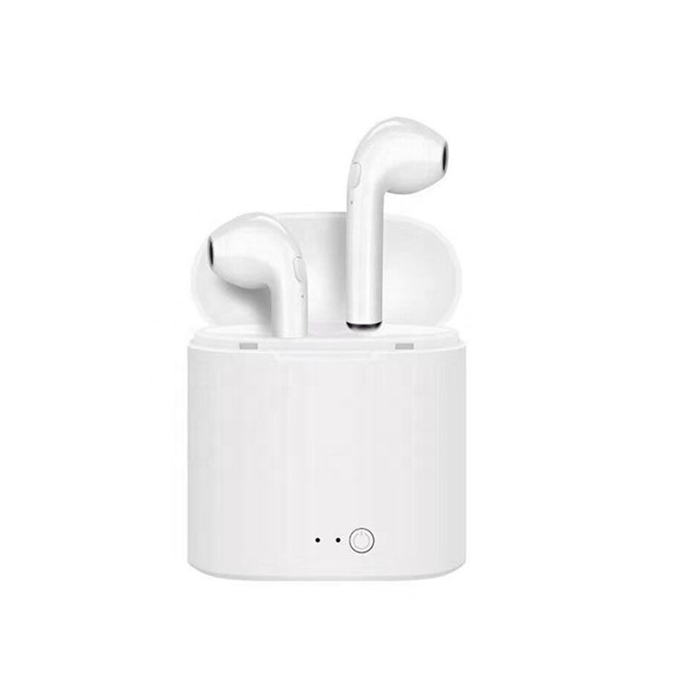 Vendita caldo Amazon Mini Noise Cancelling Wireless Bluetooth TWS I7S Auricolari Sport Compagnia Aerea Auricolari