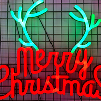 Merry Christmas decorative neon custom sign light led neon flex sign