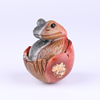 Handcarved crystal animal Natural ocean stone animal egg frog egg for decoration