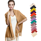 Customize multiple colour cashmere shawl winter pashmina scarf