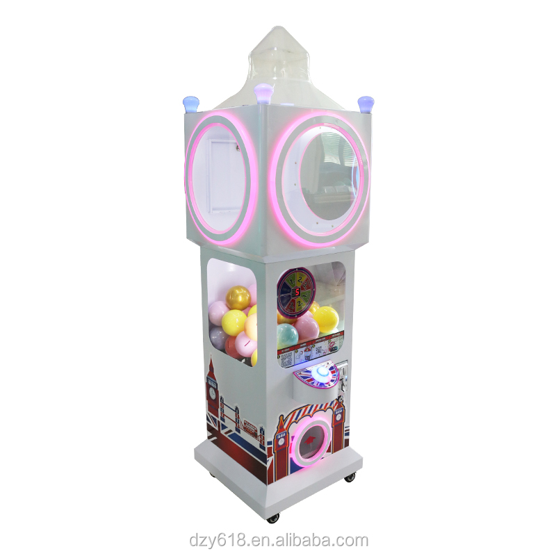 Kinderen munt operatie plastic capsule speelgoed station machine twisted ei game machine gift automaat
