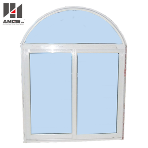 Arched Type Pvc Glass Casement Window
