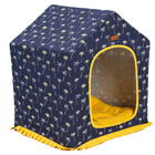 The pet house can remove and wash the canvas the four seasons dog kennel dog bed the cow cat house indoor cat kennel and mat