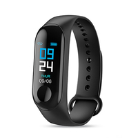 Amazon Hot Smart Bracelet m3 life waterproof sleep monitor blood pressure heart rate monitor fitness band watch