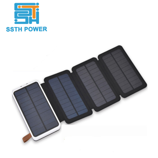 ROHS dual usb output 10000mah 12v solar <strong>portable</strong> fast charging power banks
