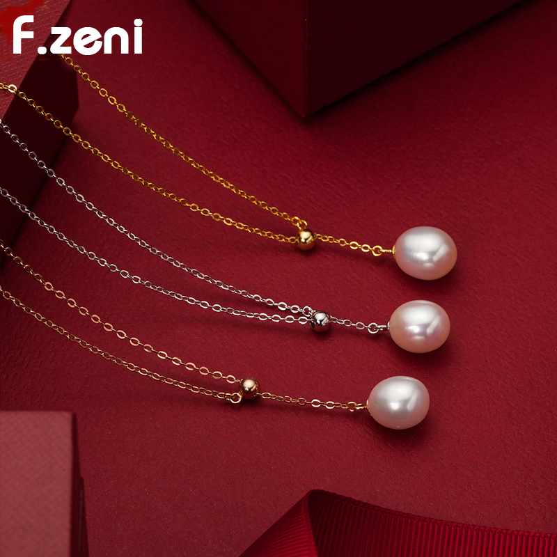 권장 Supplier 흰 금 Chain 925 Sterling Silver 담수 Pearl Necklace