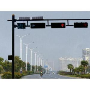 4 Sides Solar Powered Flashing Traffic Signal Light Manufacturer