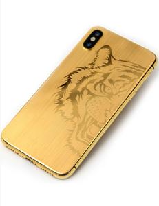 Luxury 24Kt Matt Gold Plated Housing For Iphone 8,8Plus,X,Xr,Xs,Xs Max Gold Housing