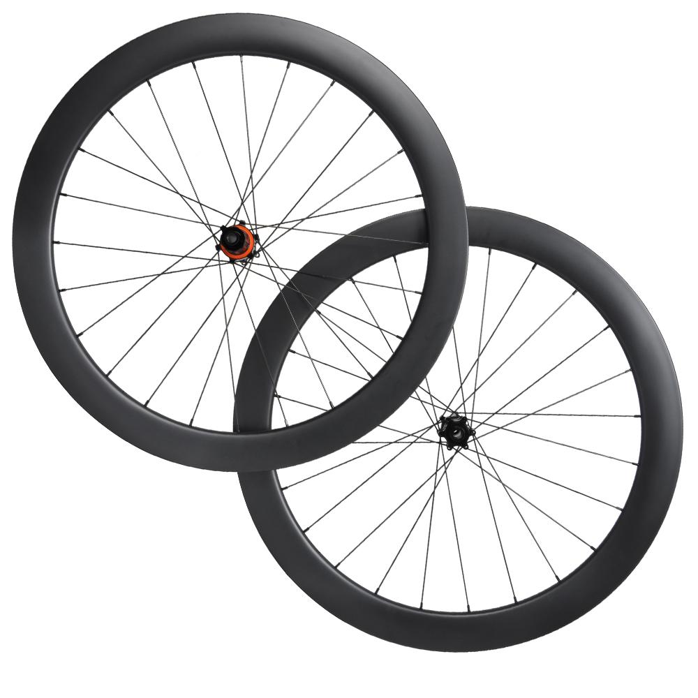 1850g Aero Disc Brake Carbon Fiber Road Bike Wheels 700C Clincher