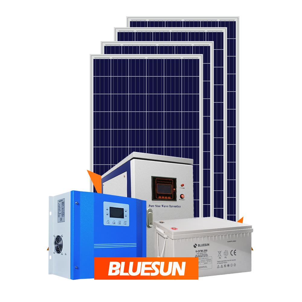 2kw off grid solar panel system RV power storage camping solar energy system