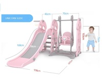 outdoor playground 3 in 1 combine with swing and basket ball plastic kids long safe slide