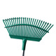 Head Only Steel 25 Spring Steel Tine Leaf Roof Yard Zen Garden Lawn Rake