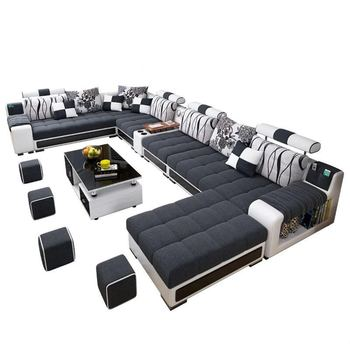 Factory Wholesale Fabric U Shaped Sectional Sofa,Modern European Style  Washable Living Room Sofa Set - Buy U Shaped Sectional Sofa,Sectional ...