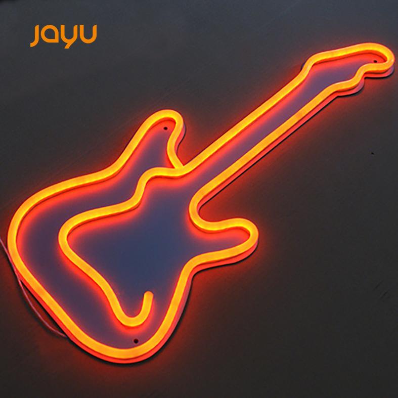 Decorative Flex Lights Acrylic Signs Led Letters Custom Light words Guitar Neon sign