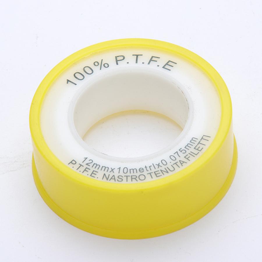 12 ミリメートル高需要防水密度黄色 ptfe スレテフロンテープ