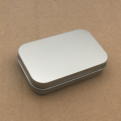 Factory Direct Supply Stock Hinged Top Tin-Plated Steel Silver White Black Metal Rectangle Tin Box