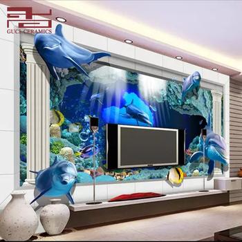 3d glass composited porcelain inkjet cheap floor ceramic texture wall tiles sale