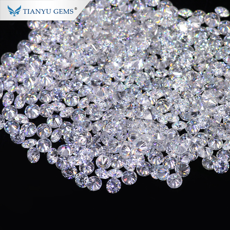 Tianyu Gems wholesale melee size 1mm/1.1mm/1.2mm/1.3mm/1.4mm/1.5mm moissanite diamond for jewelry