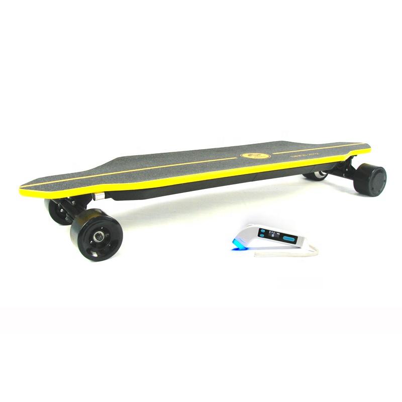 44 MPH 44 Miles fastest long range 1000w hub motor suv all terrain offroad electric skateboard with bluetooth speaker
