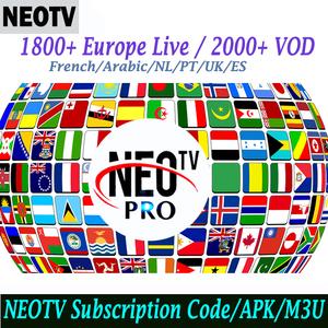 Africa European UK France 1 year NEO account Arabic 1800+Channel iptv 24  hours Test Code NEOTV PRO IPTV