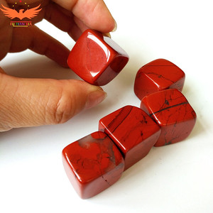 High density red jade whiskey stones ice cubes Chilling Gift Customized Stone