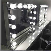 Hollywood lighted makeup mirror with Outlet