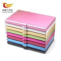 Factory direct custom logo colorful business card case rfid blocking aluminum card holder case