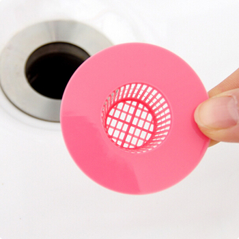 Bath Kitchen Waste Sink Strainer Filter Net Rubber Drain Hair Stopper