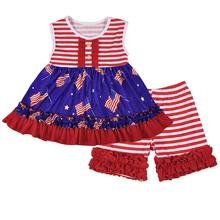 Classics baby mädchen kleidung patriotischen tunika kleidung sets Juli 4th <span class=keywords><strong>Nationalen</strong></span> tag mädchen sommer boutique kleidung outfit