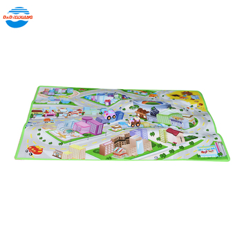 printed cartoon car soft playmat game toy baby gym play mat for kids