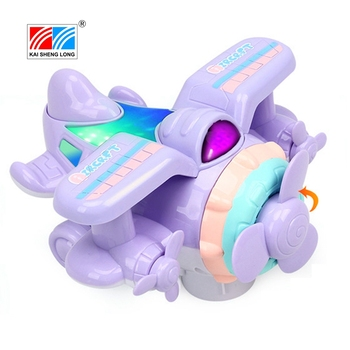 4D Bluetooth kids educational plastic small toy remote control rc plane with light and sound