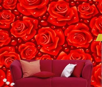 Profundo Rosa Vermelha Pintura Mural Da Parede Papel De Parede Floral 4x26 M Hd Murais Para O Interior Da Parede Da Sala Buy Profundo Rosa Vermelha