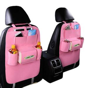 factory supply felt car seat back organizer with lots of pockets