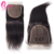 Professional Indian Virgin Unprocessed Remy Human Hair Extensions With 7x7 Lace Closure