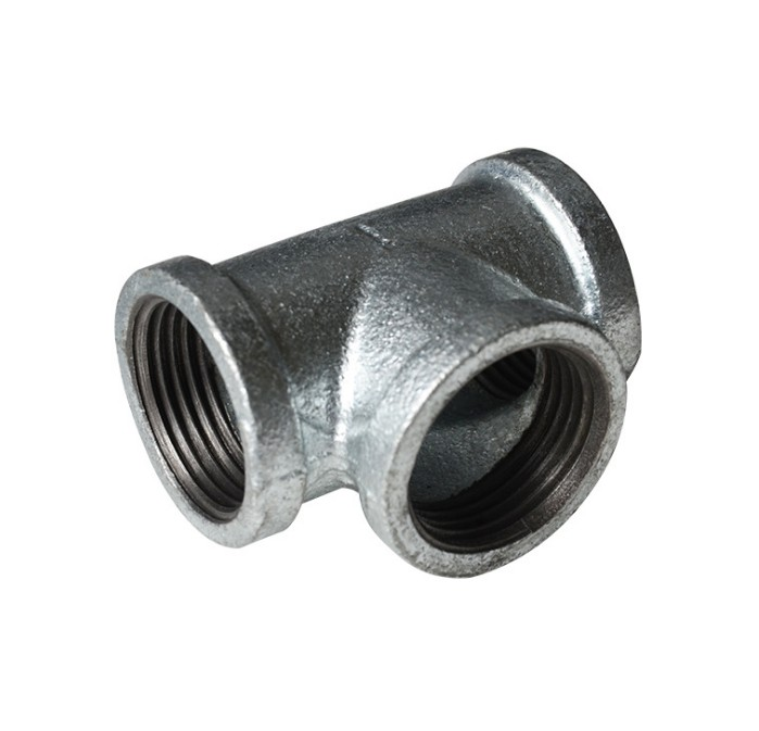 Straight tee galvanized malleable steel pipe <strong>fitting</strong>