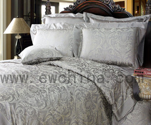 Top Quality Wholesale Luxury 19 MM100% silk silk Jacquard Bedding Sets/bedding linen/bedding sheets/beddding collection home