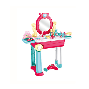 Kids pretend play dresser toy children dressing table for wholesale