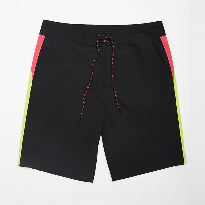 wholesale swimwear color block trim mens short swim <strong>trunks</strong>