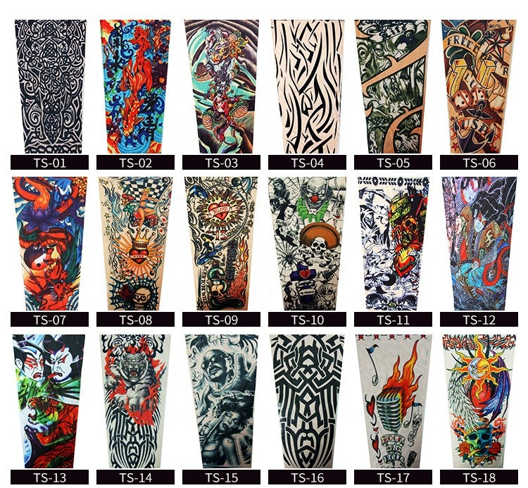 Apparel Accessories Men's Arm Warmers 1pcs Trendy Men Women New High Elastic Fake Temporary Tattoo Sleeve Designs Summer Sunscreen Body Arm Warmers Ample Supply And Prompt Delivery