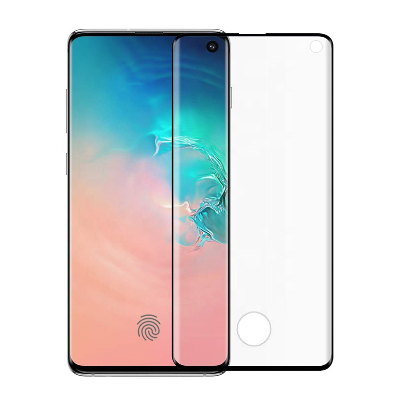 Anti-scratch 3D full coverage edge glue tempered glass screen protector for samsung galaxy s10 plus screen protector film фото