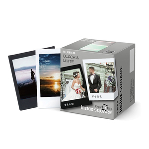 Fujifilm instax square film  3 pack 10 exposures black frame  white paper  instant film